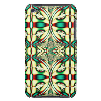 green red holiday fractal iPod Case-Mate cases