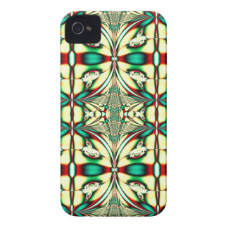 green red holiday fractal Case-Mate iPhone 4 case