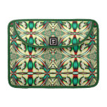 green red holiday fractal MacBook pro sleeves
