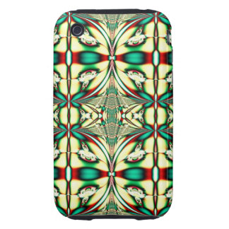 green red holiday fractal tough iPhone 3 covers