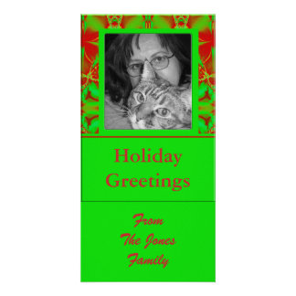 green red holiday greeting card