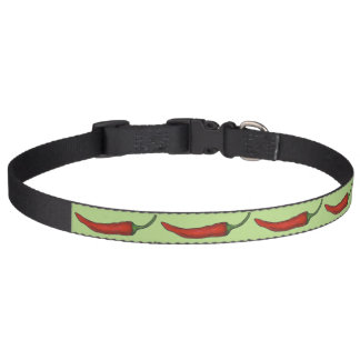 Green Red Hot Spicy Chili Chiles Pepper Vegetable Pet Collar