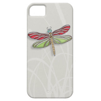 Green & Red Jeweled Dragonfly iPhone 5 Cover