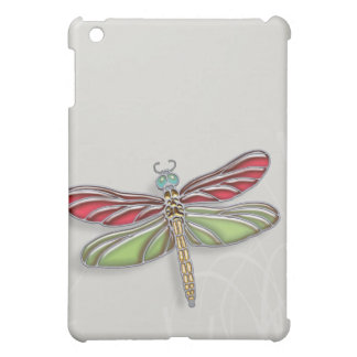 Green & Red Jeweled Dragonfly Cover For The iPad Mini