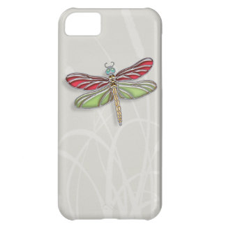 Green & Red Jeweled Dragonfly iPhone 5C Case