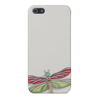 Green & Red Jeweled Dragonfly iPhone SE/5/5s Case