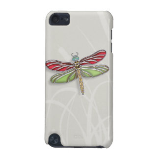 Green & Red Jeweled Dragonfly iPod Touch (5th Generation) Cover
