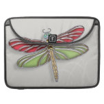 Green & Red Jeweled Dragonfly MacBook Pro Sleeves