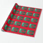 Green/Red Monogram Gift Wrap Paper