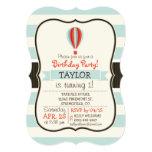 Green, Red, Orange Hot Air Balloon 5x7 Paper Invitation Card