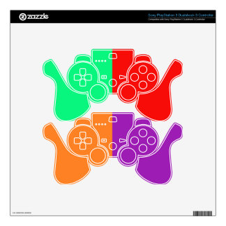 Green Red Orange Purple Gaming Controller Skins PS3 Controller Decals