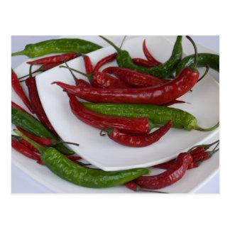 green&red pepper postcard
