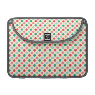 Green, Red, Pink, and Blue Polka Dots Sleeve For MacBook Pro