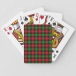 Green & Red Plaid - Poker Cards