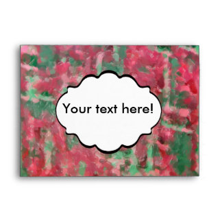 Green red platic abstract design envelope