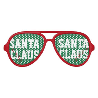 Green red Santa Claus party shades for Christmas