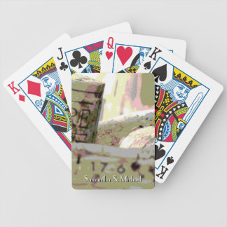 Green Red Toned Wine Corks Personalized Bicycle Playing Cards