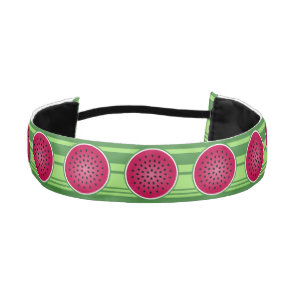 Green Red Watermelon Design Athletic Headband