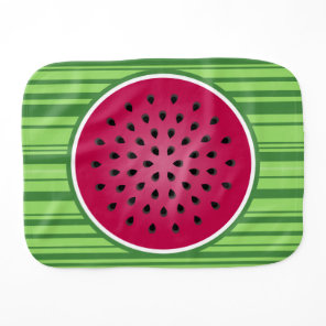 Green Red Watermelon Design Baby Burp Cloth