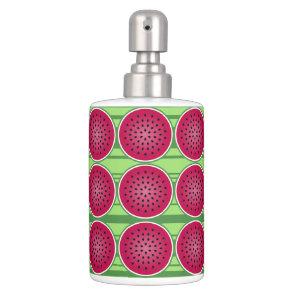 Green Red Watermelon Design Bath Set