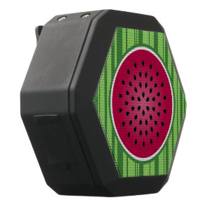 Green Red Watermelon Design Black Bluetooth Speaker