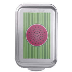 Green Red Watermelon Design Cake Pan