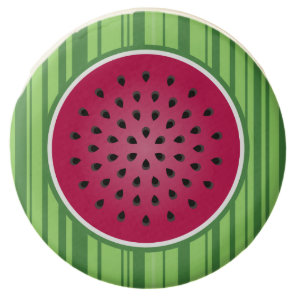 Green Red Watermelon Design Chocolate Dipped Oreo