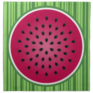 Green Red Watermelon Design Cloth Napkin