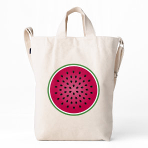 Green Red Watermelon Design Duck Bag