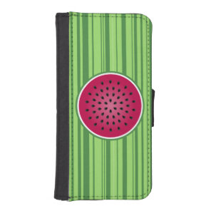 Green Red Watermelon Design iPhone SE/5/5s Wallet Case