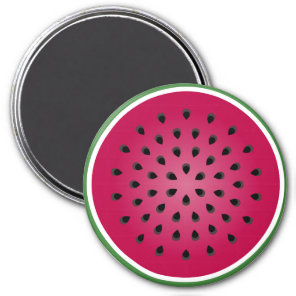 Green Red Watermelon Design Magnet