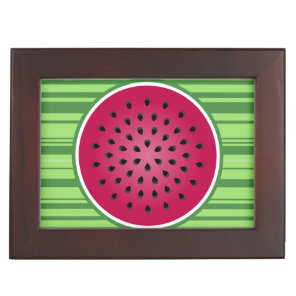 Green Red Watermelon Design Memory Box