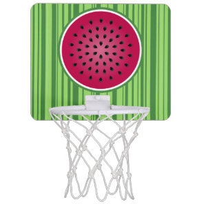 Green Red Watermelon Design Mini Basketball Hoop
