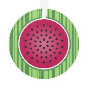 Green Red Watermelon Design Ornament