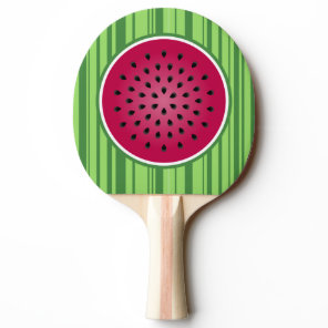 Green Red Watermelon Design Ping-Pong Paddle