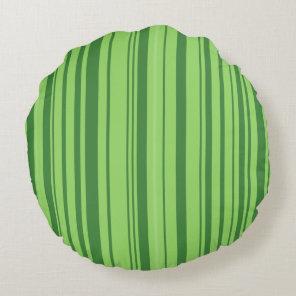 Green Red Watermelon Design Round Pillow