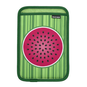 Green Red Watermelon Design Sleeve For iPad Mini