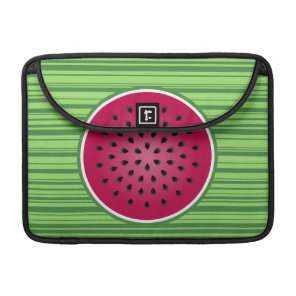 Green Red Watermelon Design Sleeve For MacBook Pro