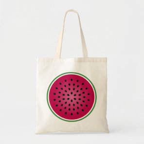 Green Red Watermelon Design Tote Bag