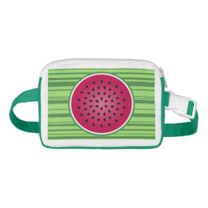 Green Red Watermelon Design Waist Bag