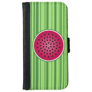 Green Red Watermelon Design Wallet Phone Case For iPhone 6/6s
