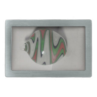 green red white dichro wig wag pattern belt buckle