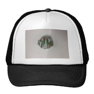 green red white dichro wig wag pattern trucker hat
