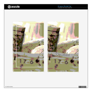 Green Red Wine Corks Personalized Skin For Kindle Fire