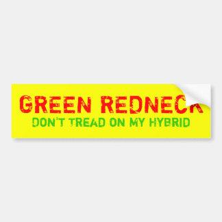 GREEN REDNECK BUMPER STICKERS