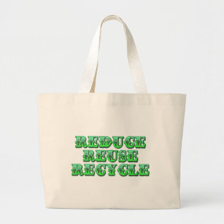 Green Reduce Reuse and Recycle Tote Bags