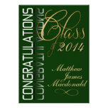 Green Reflection  Formal Graduation Party Invite