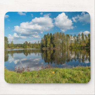 Green Reflection Mouse Pad