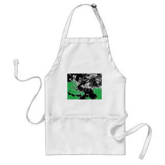 Green Reflection with Tree Adult Apron
