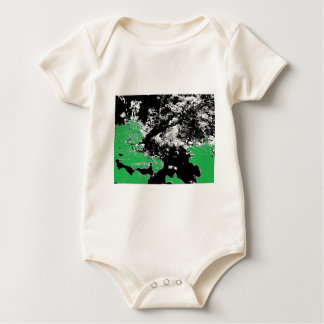 Green Reflection with Tree Baby Bodysuit